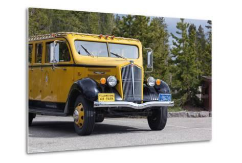 USA, Yellowstone National Park, Park Vehicle-Catharina Lux-Metal Print