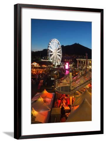 South Africa, Cape Town, V and a Waterfront, Evening-Catharina Lux-Framed Art Print