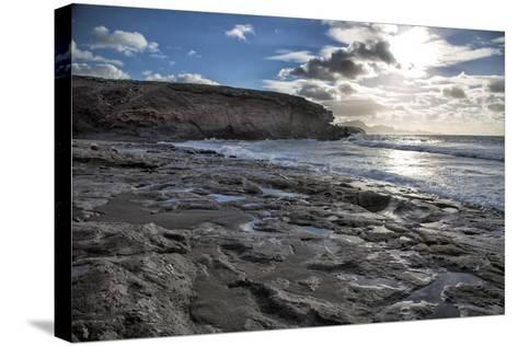 Spain, Canary Islands, Fuerteventura, Beach, Sea-Andrea Haase-Stretched Canvas Print