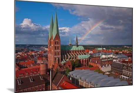 Germany, Schleswig-Holstein, City Center of LŸbeck, Overview, Rainbow-Thomas Ebelt-Mounted Photographic Print