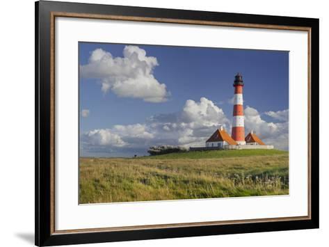 Lighthouse of Westerhever (Municipality), Schleswig-Holstein, Germany-Rainer Mirau-Framed Art Print