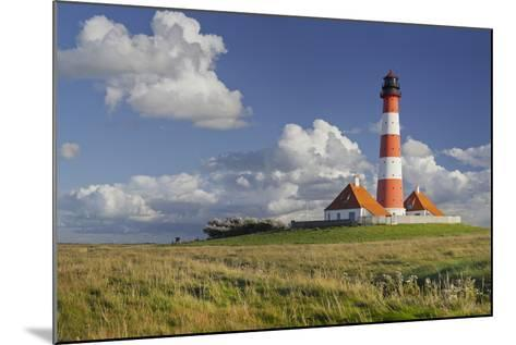 Lighthouse of Westerhever (Municipality), Schleswig-Holstein, Germany-Rainer Mirau-Mounted Photographic Print