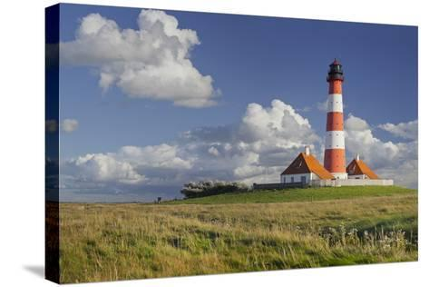 Lighthouse of Westerhever (Municipality), Schleswig-Holstein, Germany-Rainer Mirau-Stretched Canvas Print