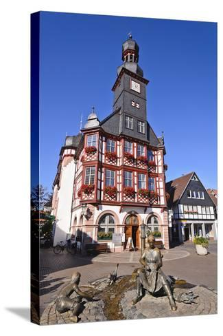Germany, Hessen, Bergstra§e (Region) Lorsch, Town Hall, Front View-Udo Siebig-Stretched Canvas Print