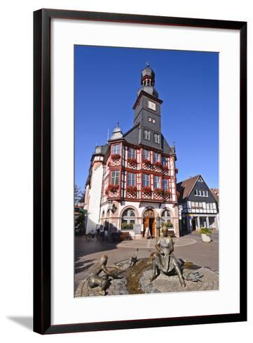 Germany, Hessen, Bergstra§e (Region) Lorsch, Town Hall, Front View-Udo Siebig-Framed Art Print