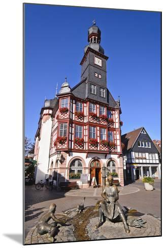 Germany, Hessen, Bergstra§e (Region) Lorsch, Town Hall, Front View-Udo Siebig-Mounted Photographic Print