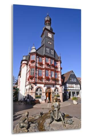 Germany, Hessen, Bergstra§e (Region) Lorsch, Town Hall, Front View-Udo Siebig-Metal Print