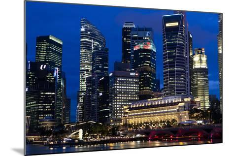 Singapore City Skyline at Dawn with Fullerton Hotel in Front-Harry Marx-Mounted Photographic Print