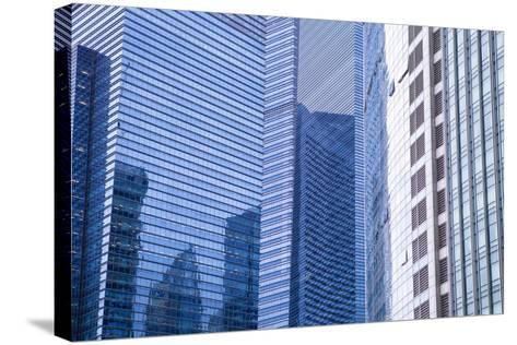 Singapore Skyscraper Detail at Marina Bay-Harry Marx-Stretched Canvas Print