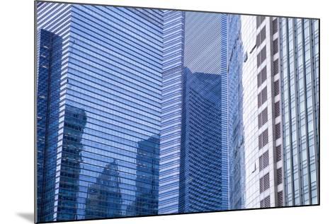 Singapore Skyscraper Detail at Marina Bay-Harry Marx-Mounted Photographic Print
