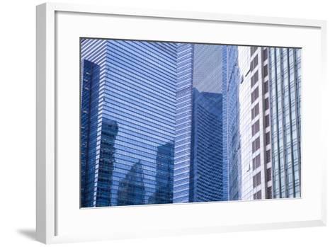 Singapore Skyscraper Detail at Marina Bay-Harry Marx-Framed Art Print
