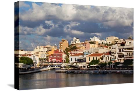 Greece, Crete, Agios Nikolaos, Lake Voulismeni-Catharina Lux-Stretched Canvas Print