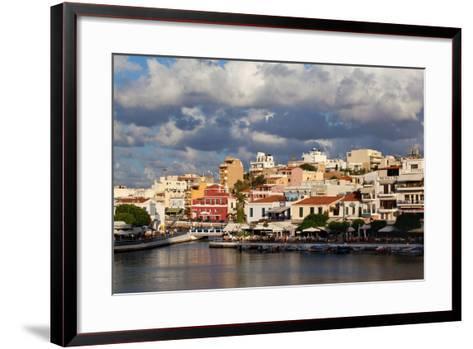 Greece, Crete, Agios Nikolaos, Lake Voulismeni-Catharina Lux-Framed Art Print
