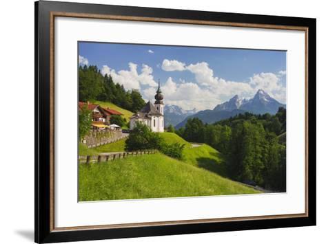 Church Maria Gern, to Vordergern, Watzmann, Berchtesgadener Land District, Bavaria, Germany-Rainer Mirau-Framed Art Print