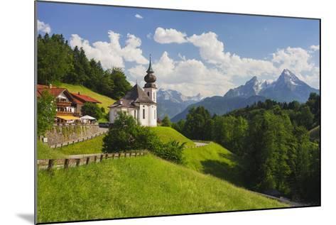 Church Maria Gern, to Vordergern, Watzmann, Berchtesgadener Land District, Bavaria, Germany-Rainer Mirau-Mounted Photographic Print