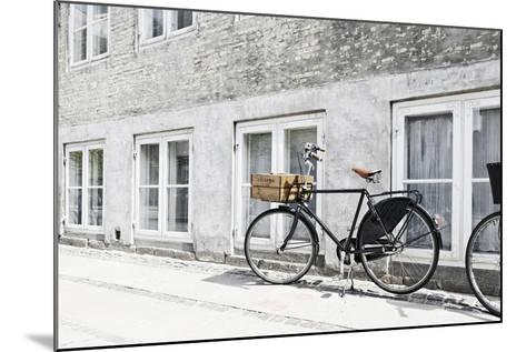 Bicycle Leaning Against Wall, City, Copenhagen, Denmark, Scandinavia-Axel Schmies-Mounted Photographic Print