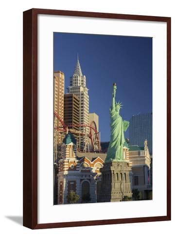 New York New York Hotel, the Statue of Liberty, Strip, Las Vegas, Nevada, Usa-Rainer Mirau-Framed Art Print