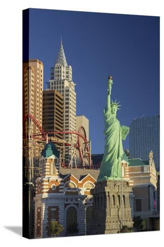 New York New York Hotel, the Statue of Liberty, Strip, Las Vegas, Nevada, Usa-Rainer Mirau-Stretched Canvas Print