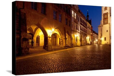 Germany, Saxony, Gšrlitz, Untermarkt, Arcade Houses-Catharina Lux-Stretched Canvas Print