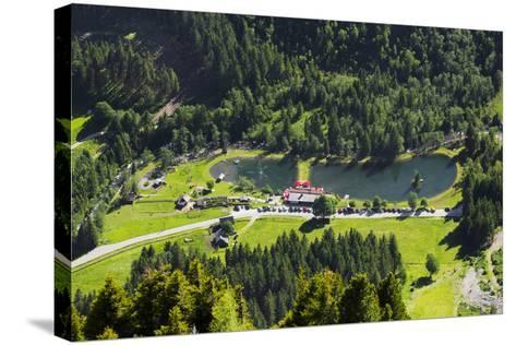 Bathing Lake WaldhŠuslalm, Untertalbach, Niedere Tauern, Styria, Austria-Rainer Mirau-Stretched Canvas Print