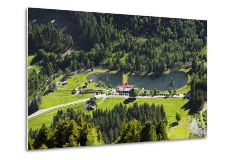 Bathing Lake WaldhŠuslalm, Untertalbach, Niedere Tauern, Styria, Austria-Rainer Mirau-Metal Print