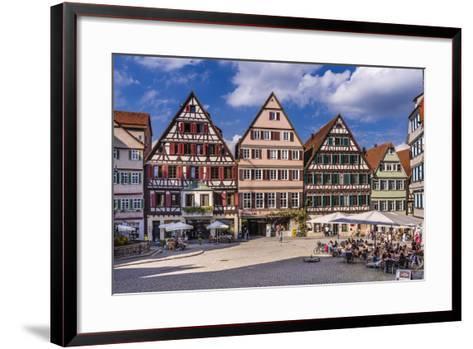 Germany, Baden-Wurttemberg, Neckartal (Neckar Valley), T?bingen, Marktplatz (Market Square-Udo Siebig-Framed Art Print