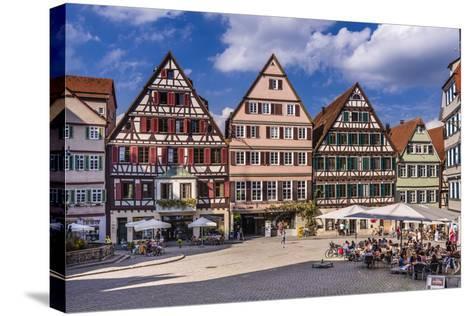 Germany, Baden-Wurttemberg, Neckartal (Neckar Valley), T?bingen, Marktplatz (Market Square-Udo Siebig-Stretched Canvas Print