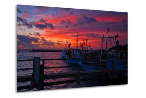 Evening Mood in the Harbour of Timmendorf, Baltic Sea Island Poel-Thomas Ebelt-Metal Print