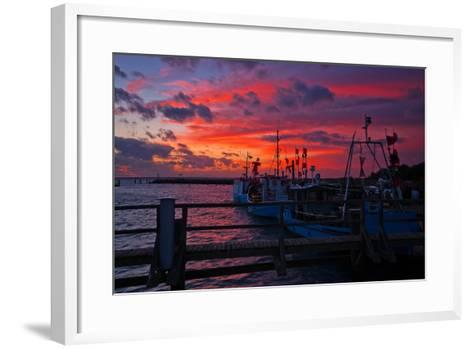 Evening Mood in the Harbour of Timmendorf, Baltic Sea Island Poel-Thomas Ebelt-Framed Art Print