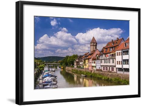 Germany, Baden-WŸrttemberg, Main-Tauber-Region, Wertheim, Tauberufer-Udo Siebig-Framed Art Print