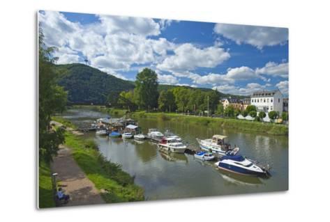 Germany, Rhineland-Palatinate, Middle Rhine Valley, Lahnstein, Harbour-Chris Seba-Metal Print