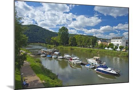 Germany, Rhineland-Palatinate, Middle Rhine Valley, Lahnstein, Harbour-Chris Seba-Mounted Photographic Print
