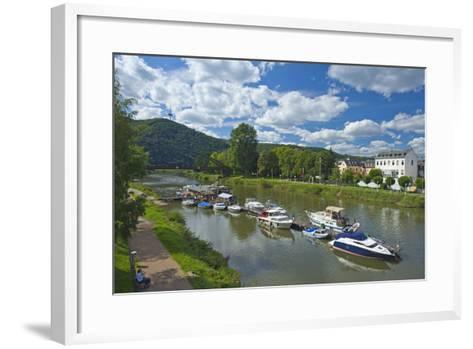 Germany, Rhineland-Palatinate, Middle Rhine Valley, Lahnstein, Harbour-Chris Seba-Framed Art Print