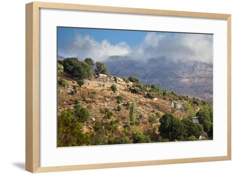 Greece, Crete, Landscape in the Dikti Mountains-Catharina Lux-Framed Art Print
