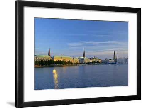 Germany, Hamburg, the Inner Alster-Chris Seba-Framed Art Print