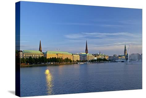 Germany, Hamburg, the Inner Alster-Chris Seba-Stretched Canvas Print