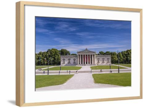 Germany, Bavaria, Upper Bavaria, Munich, Part of Town Maxvorstadt, Kšnigsplatz, Glyptothek-Udo Siebig-Framed Art Print