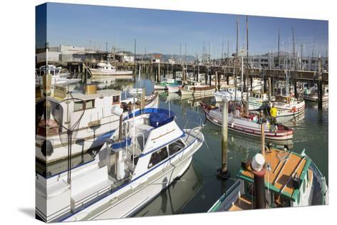 Boats at the Pier 39, San Francisco, California, Usa-Rainer Mirau-Stretched Canvas Print