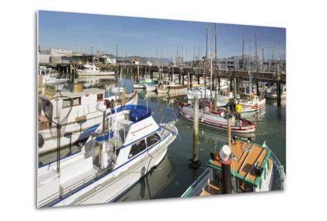 Boats at the Pier 39, San Francisco, California, Usa-Rainer Mirau-Metal Print