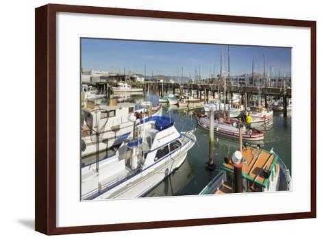 Boats at the Pier 39, San Francisco, California, Usa-Rainer Mirau-Framed Art Print