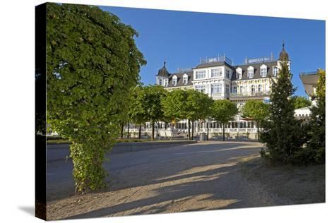 Germany, Western Pomerania, Island Usedom, Seaside Resort Ahlbeck, Luxury Hotel Ahlbecker Hof-Chris Seba-Stretched Canvas Print