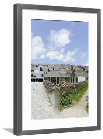 Modern Architecture, Home Construction, Orestad, Island Amager, Copenhagen, Denmark, Scandinavia-Axel Schmies-Framed Art Print