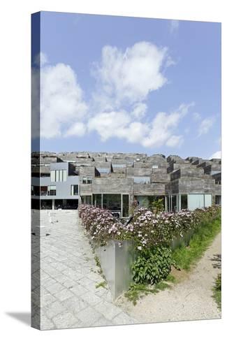 Modern Architecture, Home Construction, Orestad, Island Amager, Copenhagen, Denmark, Scandinavia-Axel Schmies-Stretched Canvas Print
