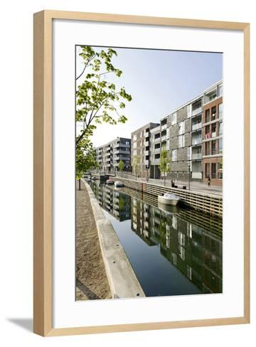 Modern Architecture, Apartments in Sluseholmen, Copenhagen, Denmark, Scandinavia-Axel Schmies-Framed Art Print