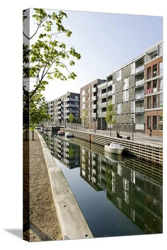 Modern Architecture, Apartments in Sluseholmen, Copenhagen, Denmark, Scandinavia-Axel Schmies-Stretched Canvas Print