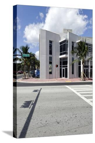 Modern Architecture, Collins Avenue, Miami Beach, Florida, Usa-Axel Schmies-Stretched Canvas Print