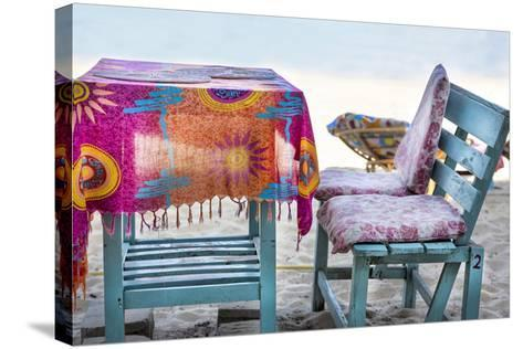 Piece of Furniture, Brightly, Beach Bar, Thailand, Beach-Andrea Haase-Stretched Canvas Print