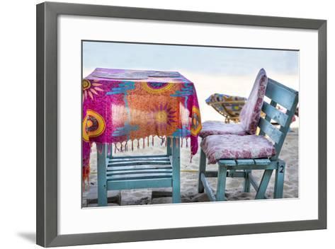 Piece of Furniture, Brightly, Beach Bar, Thailand, Beach-Andrea Haase-Framed Art Print