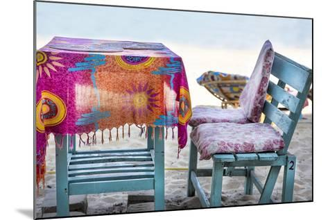 Piece of Furniture, Brightly, Beach Bar, Thailand, Beach-Andrea Haase-Mounted Photographic Print