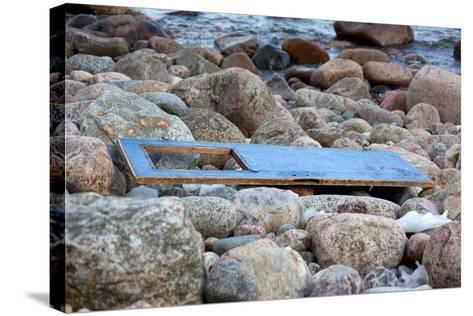 The Baltic Sea, R?gen, Flotsam on the Beach, Old Door-Catharina Lux-Stretched Canvas Print